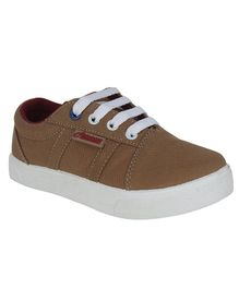 Beanz Solid Lace Up Shoes - Brown