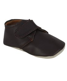 Beanz Solid Velcro Closure Shoes  - Black