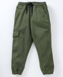 Kid Studio Solid Full Length Pant - Green