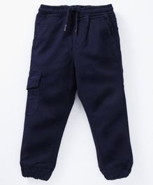 Kid Studio Solid Full Length Pant - Navy Blue