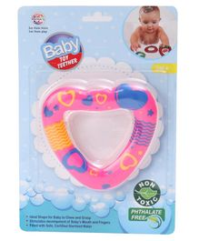 Ratnas Heart Shaped Water Filler Teether - Multicolour
