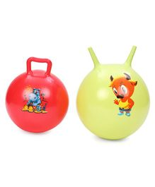 Awals Twin Bounce Hopping Balls Multicolour - Pack of 2