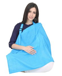 Lulamom Feeding & Nursing Cover Polka Print - Blue