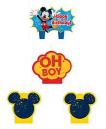 Funcart Mickey Mouse Happy Birthday Candle Multicolor