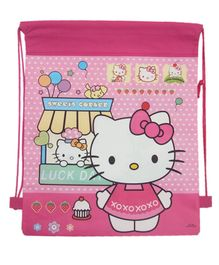 Funcart Hello Kitty Haversack Bag Pink - 15 Inches