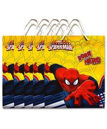Funcart Spider Man Paper Gift Bag Red Yellow - Pack of 5