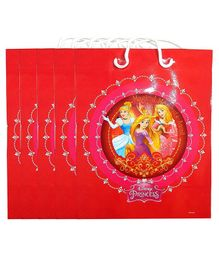 Funcart Princess Paper Gift Bag Red - Pack of 5