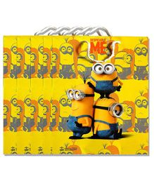 Funcart Minions Paper Gift Bag Yellow - Pack of 5