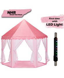 NHR Kids Play Tent Castle With LED Lights - Pink