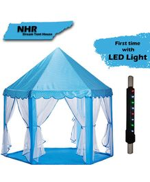 NHR Kids Play Tent Castle With LED Lights - Blue