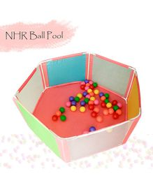 NHR Ball Pit With 50 Colourful Balls - Multicolour
