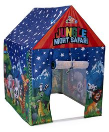Awals Jungle Safari Tent With Led - Blue