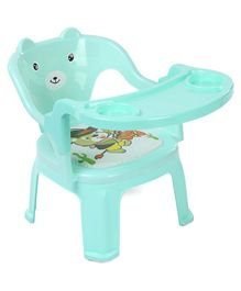 Plastic Chair With Removable Tray Bear Print - Blue