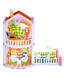 Toyshine Doll House With Accessories Multicolor - 77 Pieces