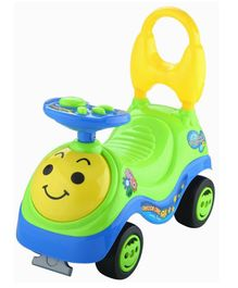 Toyshine Beetle Manual Push Ride On With Music - Blue Green