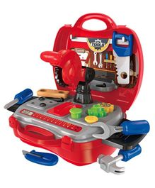 Toyshine DIY Portable Tool Set Toy With Briefcase - Red