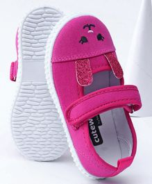 Cute Walk by Babyhug Casual Shoes - Dark Pink