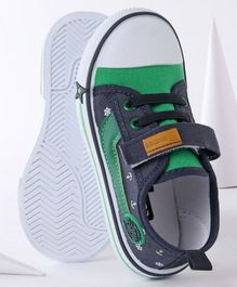 Cute Walk By Babyhug Casual Canvas Shoes - Green