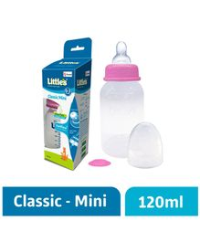 Little's Classic Mini Polypropylene Feeding Bottle Pink - 120 ml