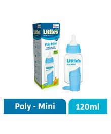 Little's Poly Mini Feeding Bottle Blue - 120 ml