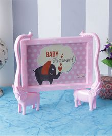Quirky Monkey Elephants Photo Frame - Pink