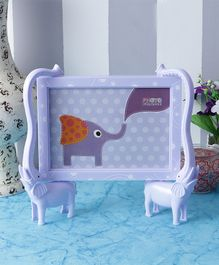 Quirky Monkey Elephants Photo Frame - Blue