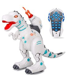 Smartcraft RC Robot Dinosaurs T-Rex With Rechargeable Battery - White