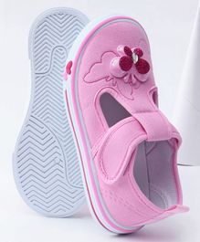 Cute Walk by Babyhug Casual Shoes Butterfly Applique - Light Pink