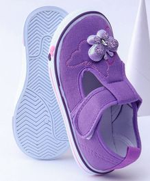 Cute Walk by Babyhug Casual Shoes Butterfly Applique - Purple