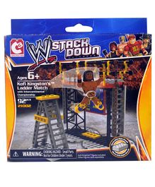 WWE Stackdown Starter Set Kofi Kingstons Ladder Match Multicolour - 92 pieces