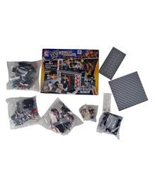 WWE Stackdown Train & Rumble Building Blocks Play Set Multicolour - 208 Pieces