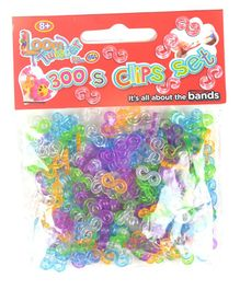 Looms Clip Set of 300 - Multicolour