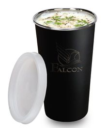 Falcon No Spill Glass With Lid Matte Black - 300 ml