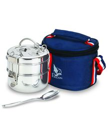 Falcon Foodie 7 x 2 Layer Tiffin Box With Bag & Spoon - 800ml