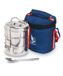 Falcon Foodie Stainless Steel Tiffin Box with Bag & Spoon -  1100ml