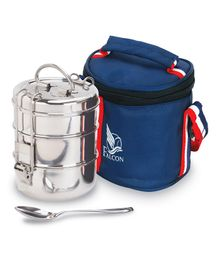 Falcon Foodie Tiffin Box With Bag & Spoon Blue - 1500 ml