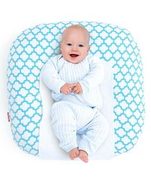 Rabitat Snooze Baby Lounger With Waterproof Protection - Light Blue