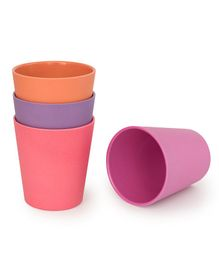 Bobo&Boo Bamboo Drinking Cups Set of 4 - Multicolour