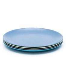 Bobo&Boo Bamboo Dinner Plates Set of 4 Coastal - Blue