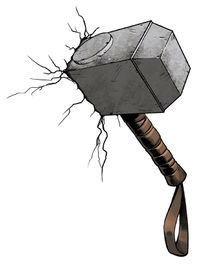 Asian Paints Thor's Hammer Wall Sticker XXL - Brown Grey