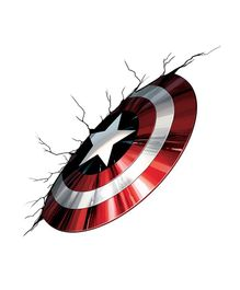Asian Paints Captain America Vibranium Shield Wall Sticker XXL - Red
