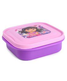 Dora Lunch Box With With Small Container Spoon & Fork - Purple Pink