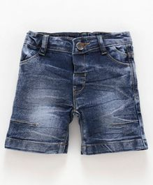 Babyoye Cotton Basic Denim Shorts - Blue
