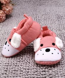 Kidlingss Dog Face Booties - Peach