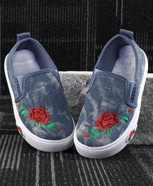 Kidlingss Rose Patch Casual Shoes - Blue