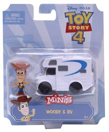 Toy Story Minis Woody Figure Toy Multicolour - Height 4 cm