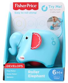 Fisher Price Musical Roller Elephant - Blue