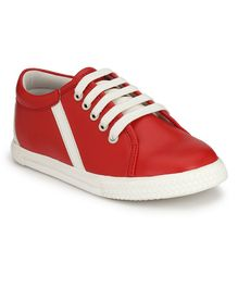 Tuskey Lace Up Casual Shoes - Red