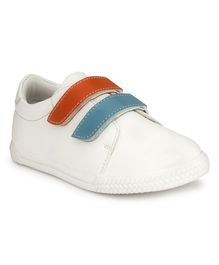 Tuskey Double Velcro Jogger Shoes - White