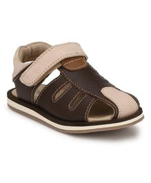 Tuskey Velcro Closure Sandal - Brown